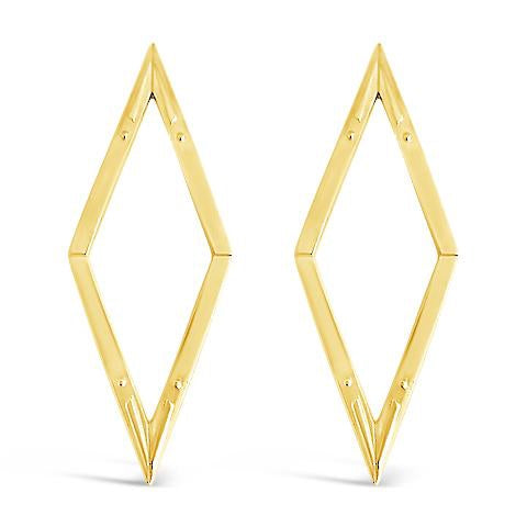 diamond back gold statement earrings