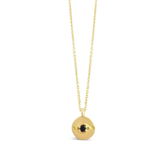 Evil Eye Necklace // 14K Gold
