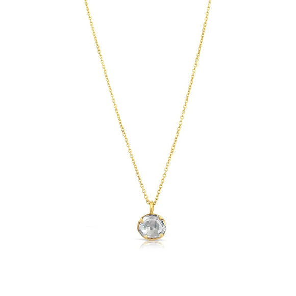 .5 carat diamond necklace yellow gold