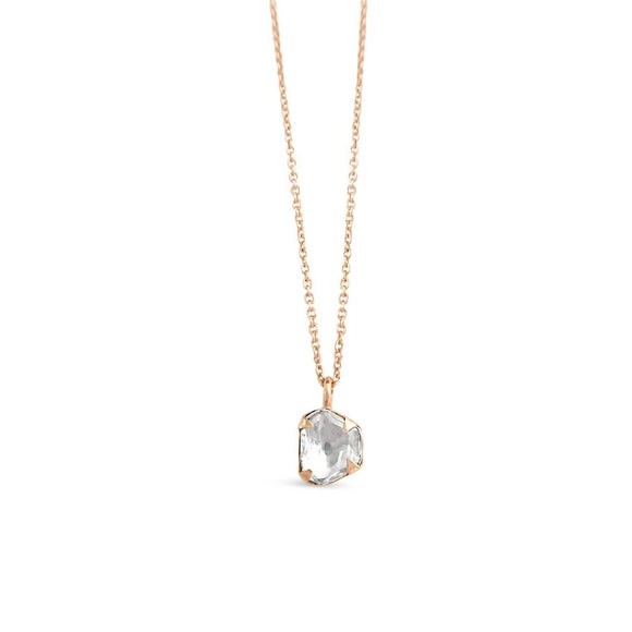 .5 carat diamond necklace rose gold