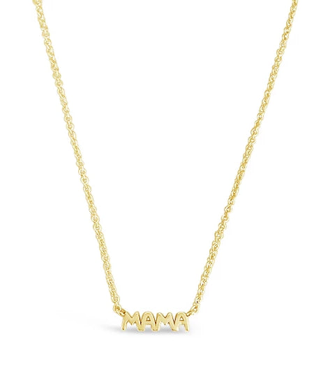 14k gold dainty mama necklace for moms