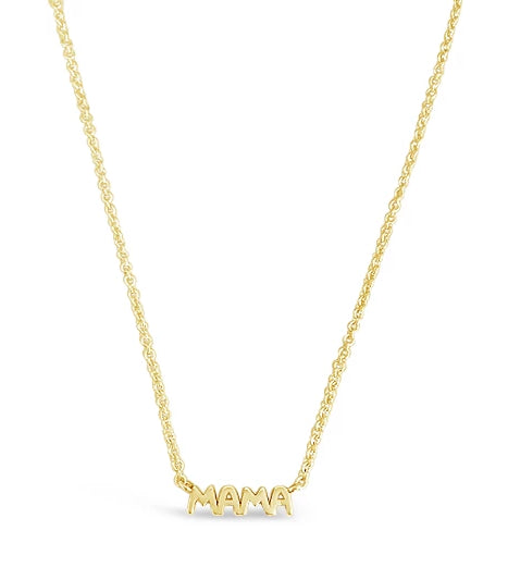 dainty gold necklace mama for moms