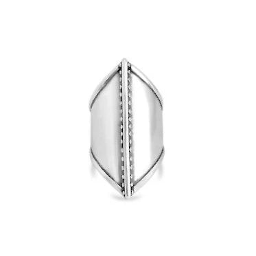 thick warrior silver ring