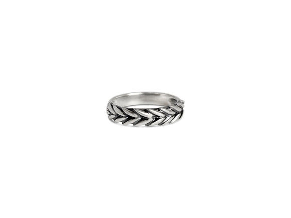 silver wheat band ring inscribed stay golden
