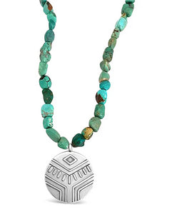 thick turquoise beaded necklace