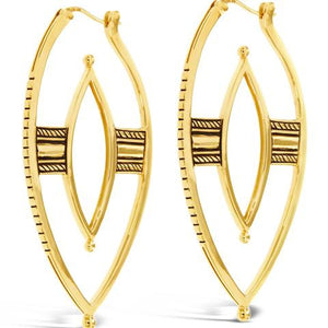 gold warrior hoop earrings