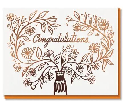 congratulations gold foil card