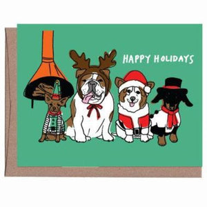Vintage Dogs Holiday Card