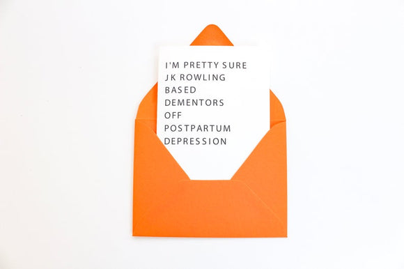 Postpartum Depression Greeting Card