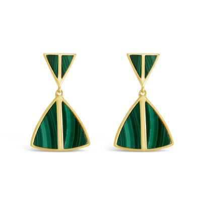 malachite jolene earrings