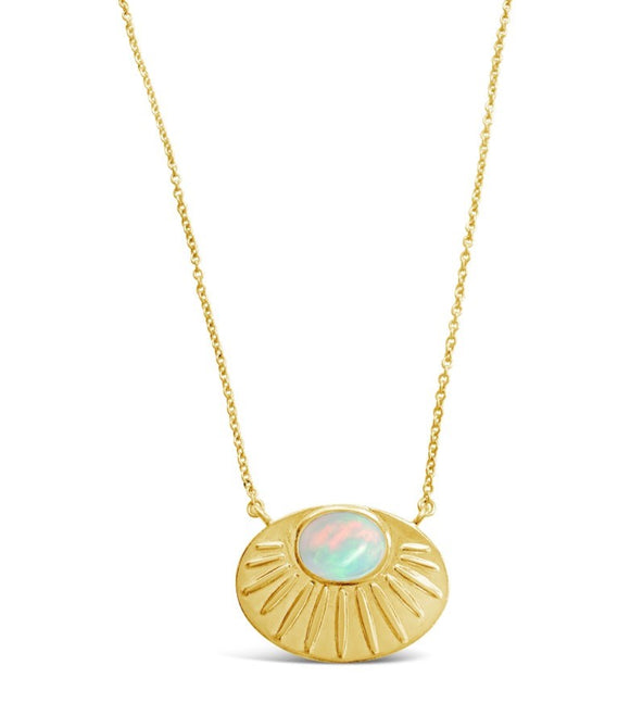 gold opal pendant necklace