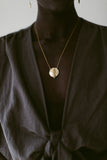 gold wheat pendant coin necklace