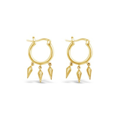 wildfire gold dangle hoops