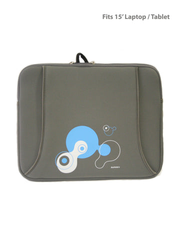 Printed Protective Laptop/ Tablet Sleeve-  Fits15'