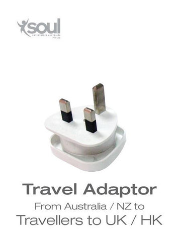 Travel Adaptor- From Australia/ NZ to Traveller to UK/ HK