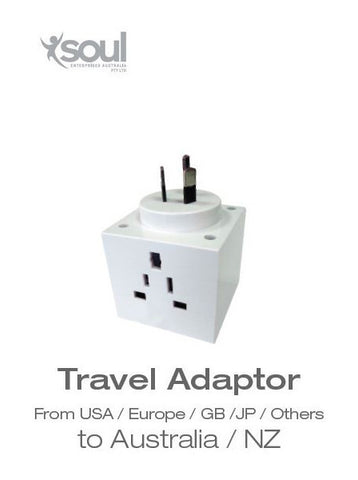 Travel Adaptor- From USA/ Europe/ GB/ JP/ Others to Australia