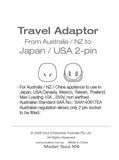 Travel Adaptor- From Australia/ NZ to Japan/ USA 2-Pin