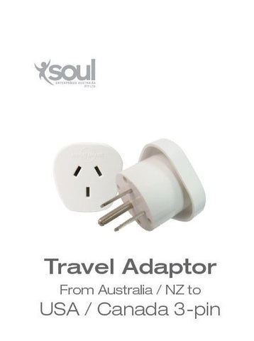 Travel Adaptor- From Australia to USA/ Canada 3 Pin