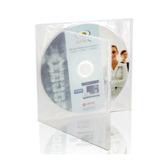 Printed CD DVD in Clear Square Mailer Case