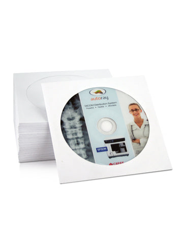 White Paper Sleeve with clear Window ( pack of 100)