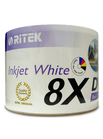 Ritek DVD-R White Inkjet printable 8X 50 Pack