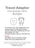 Travel Adaptor- From Australia/ NZ to Europe