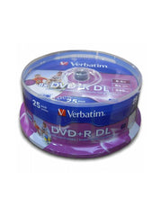 Verbatim Dual Layer DVD+R DL (43667 ) Pack of 25