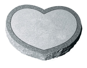 Heart Shaped Pet Memorial - Grey