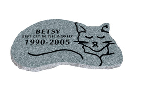 Cat Shaped Memorial - Grey