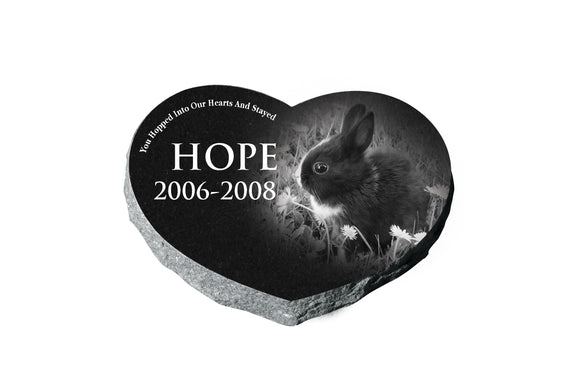 Heart Shaped Pet Memorial - Black