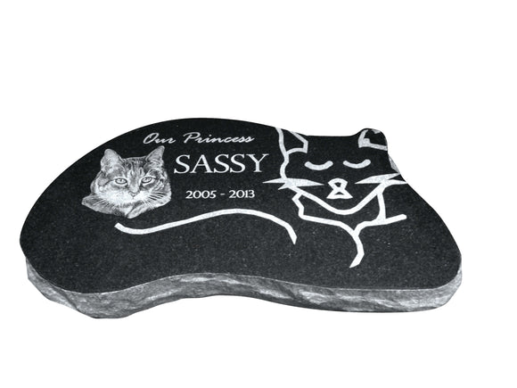 Cat Shaped Memorial - Black