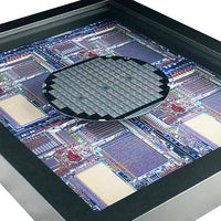 Silicon Wafer with Rockwell Microprocessor Chips - 4 inch