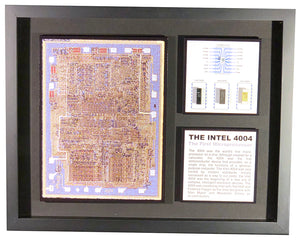 Intel 4004 - The World's First Microprocessor - C4004, D4004, P4004 and a 4004 Chip Die - NOS, Working