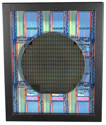 Silicon Wafer with DS83C950 Security Processors - 6 inch, Cyptographic, Java Ring, iButton, DS1954