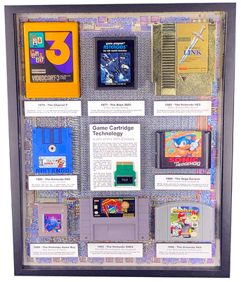 Game Cartridge Technology - Icons of the 20th Century - Perfect for the Game Room