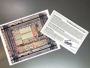 The Microprocessor - Chip Artwork With a Real Computer Chip - Motorola 6808