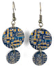 Item015 - Computer Board Earrings - Graphics, Dangles, Round, Blue, Gold