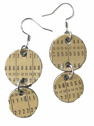 IBM Punch Card Earrings - Throw back to the 1960s and 70s