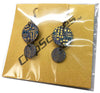 Computer Board Earrings - Graphics, Dangles, Round, Blue, Gold