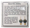 Item001: Communication Board Earrings - Nortel, Dangles, Round, Green, Gold