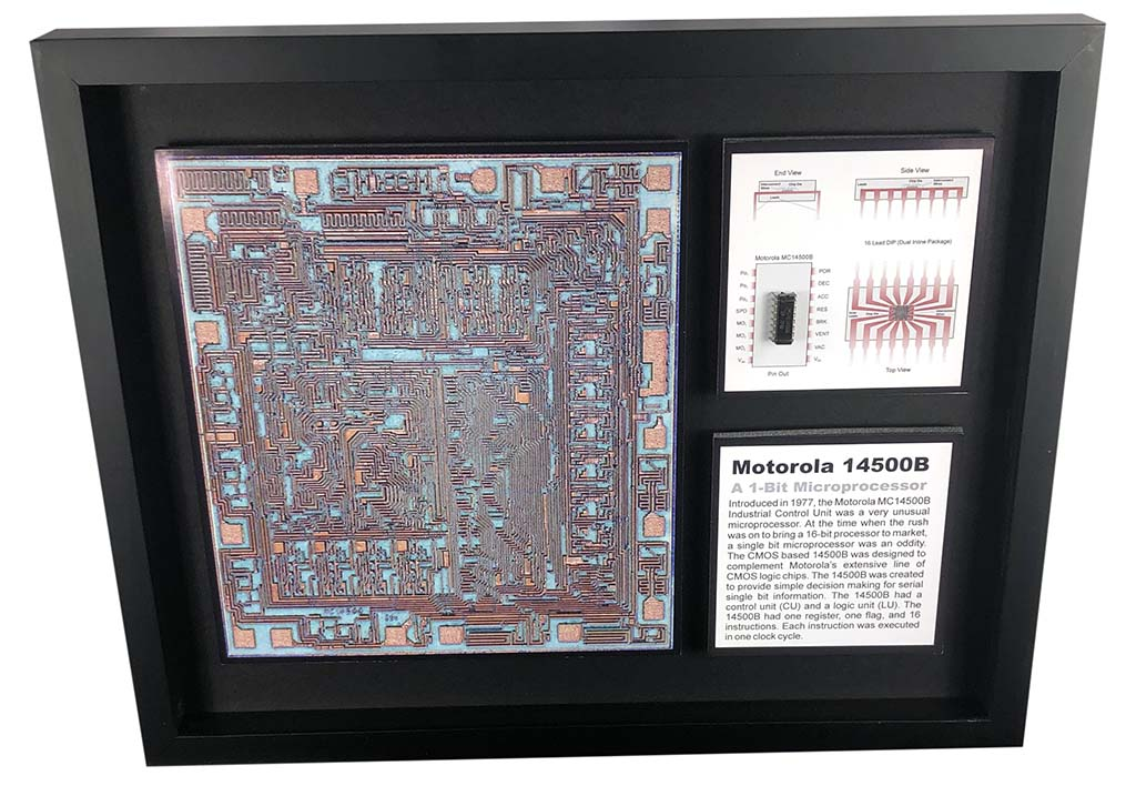 The Motorola 14500B Industrial Control Unit - A 1-bit Microprocessor