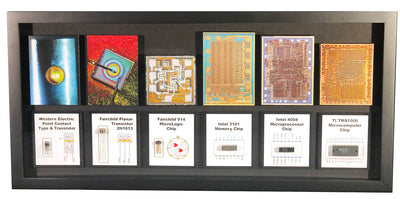 The Transistor to Computer Chips - Type A, 2N1613, Micrologic, 3101, Intel 4004, TMS1000