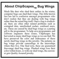 "Item101: ChipScapes Computer Bug Wings - ""The Bee"""