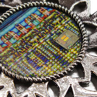 ChipScapes Set #11: Mixed Types - Intel Flip Chip, IBM System/370 Assembly, Art with Chip,  (3 Ornaments)