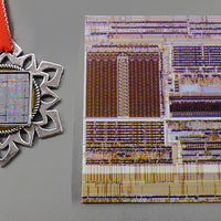 ChipScapes Set #10: Mixed Types - Silicon Wafer, Computer Circuit Board, Chip Traces (3 Ornaments)