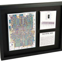 Intel 4004 - The World's First Microprocessor - ChipScape Artwork - 50th Anniversary