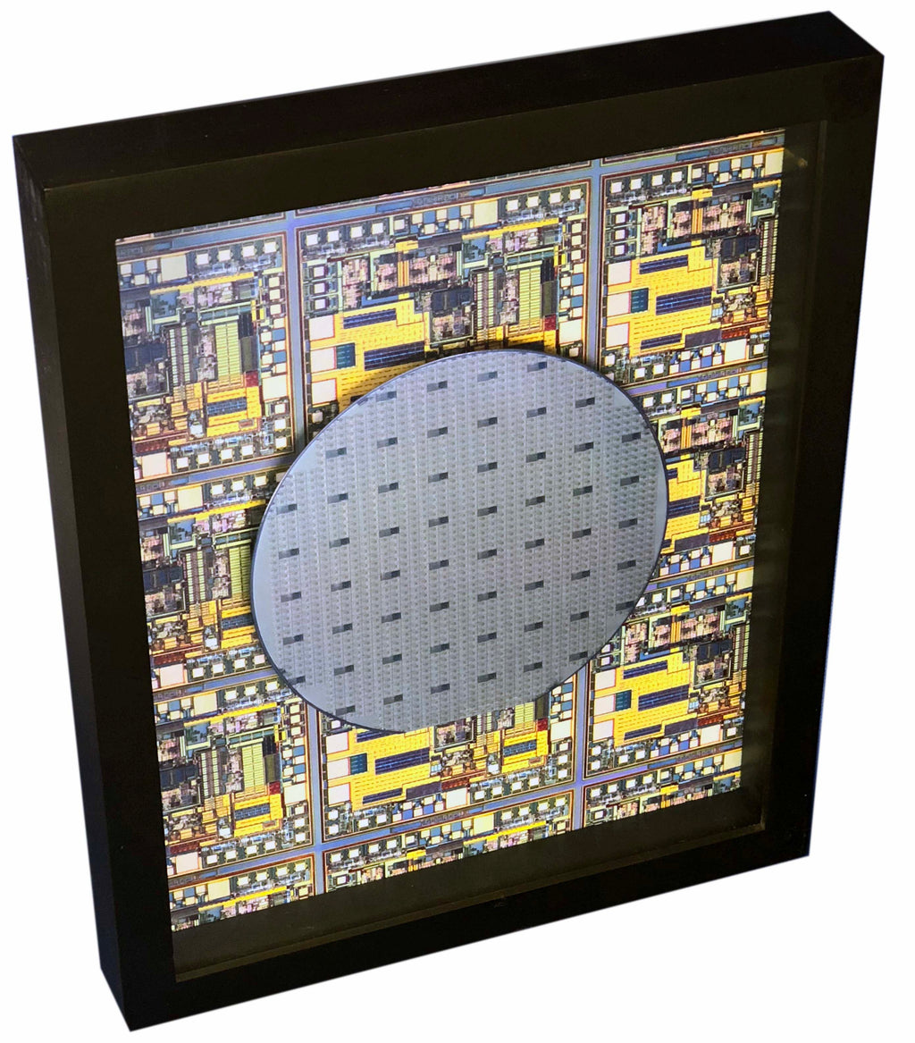 Silicon Wafer with Computer Chips - 5 inch, SCSI Terminators