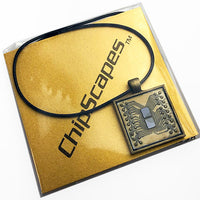IBM Memory Chip Necklace - IBM 4300 Mainframe Computer Memory