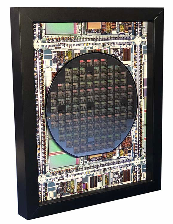Silicon Wafer with Microprocessor Chips - 6 inch