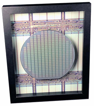 Silicon Wafer with RAM Memory Chips - 6 inch